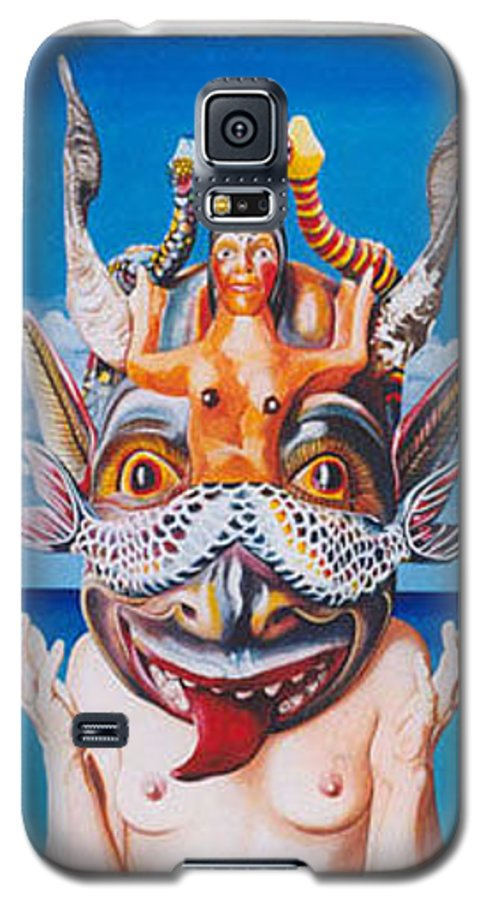 Hyperrealism Galaxy S5 Case featuring the painting La Sirena by Michael Earney
