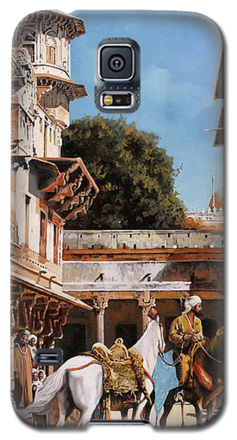 White Tower Galaxy S5 Case featuring the painting La Torre Bianca by Guido Borelli