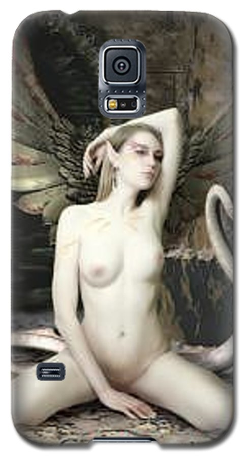 Fairy Galaxy S5 Case featuring the painting Labyrinth by Michel Savage