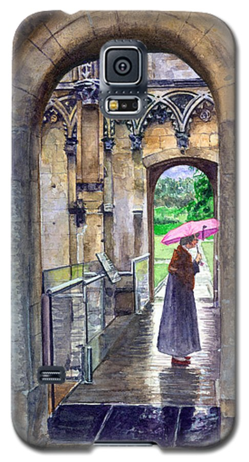 Glastonbury Galaxy S5 Case featuring the painting Lady Chapel by John D Benson