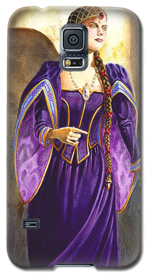Camelot Galaxy S5 Case featuring the painting Lady Ettard by Melissa A Benson