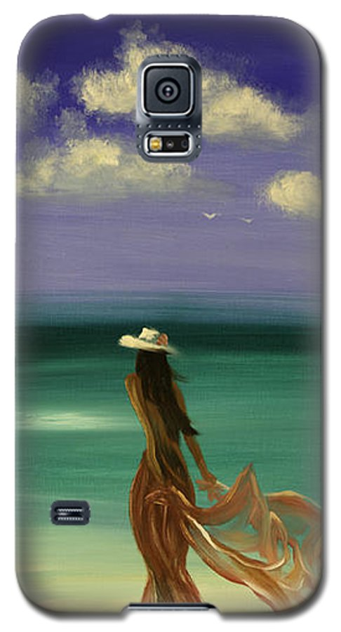 Nice Galaxy S5 Case featuring the painting Lady In Red by Gina De Gorna