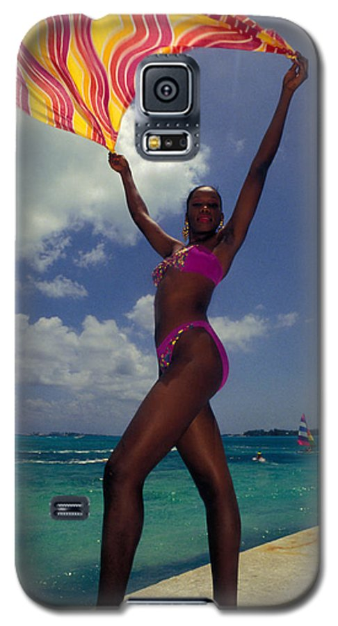 Black Galaxy S5 Case featuring the photograph Lady In The Wind by Carl Purcell