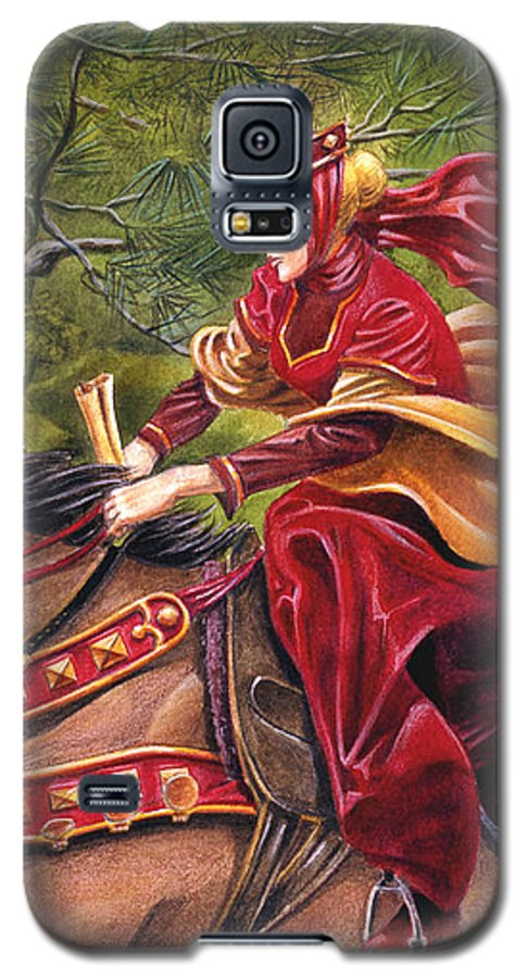 Camelot Galaxy S5 Case featuring the painting Lady Lunete by Melissa A Benson