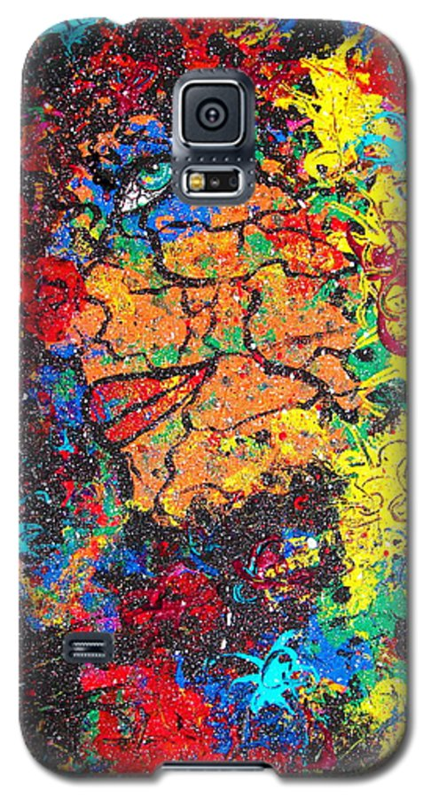 Woman Galaxy S5 Case featuring the painting Lady Of Mystery by Natalie Holland