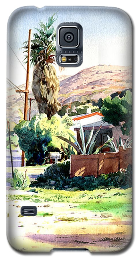 Watercolor Galaxy S5 Case featuring the painting Laguna Canyon Palm by John Norman Stewart
