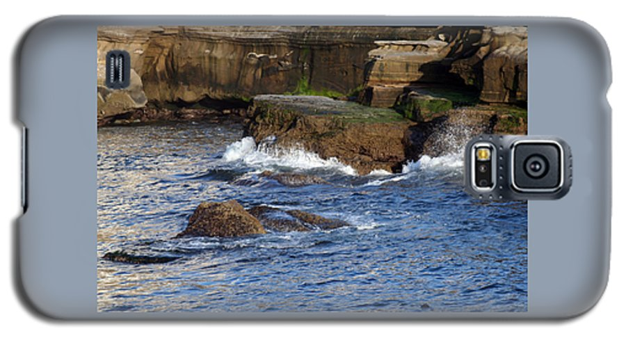 Ocean Galaxy S5 Case featuring the photograph Lajolla Rocks by Margie Wildblood