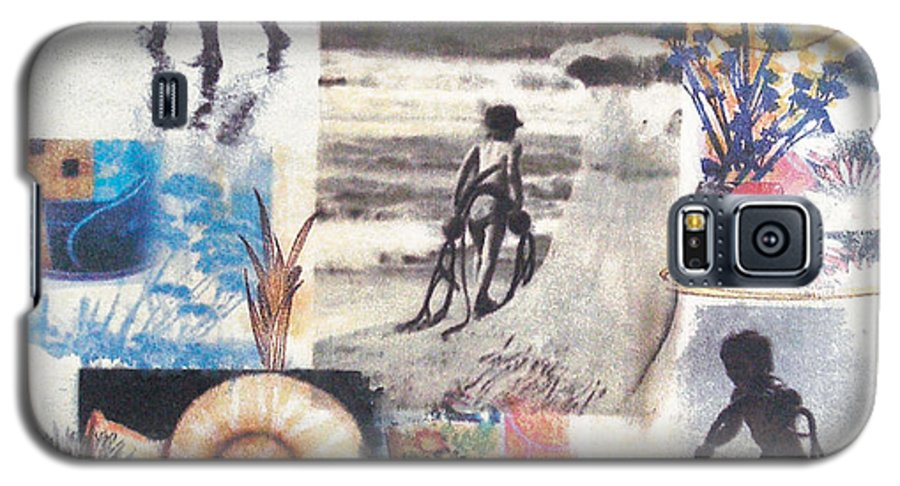 Abstract Galaxy S5 Case featuring the painting Lajolla by Valerie Meotti