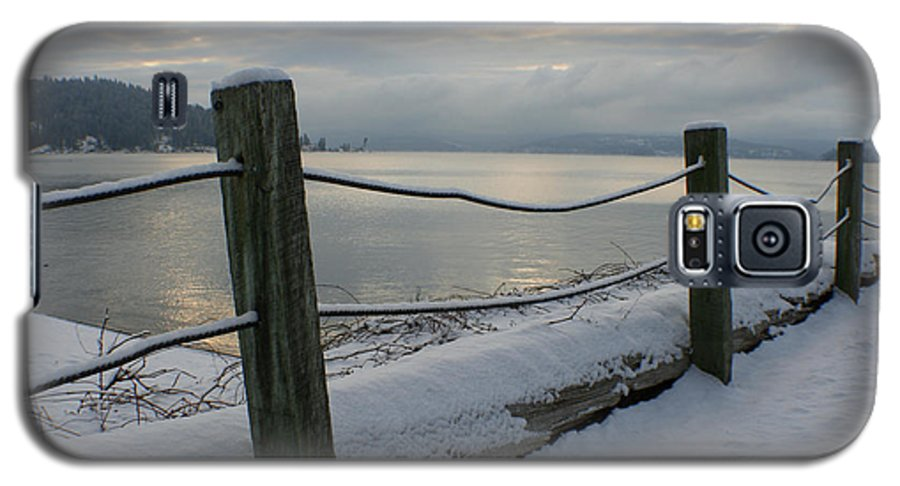 Fence Galaxy S5 Case featuring the photograph Lake Snow by Idaho Scenic Images Linda Lantzy