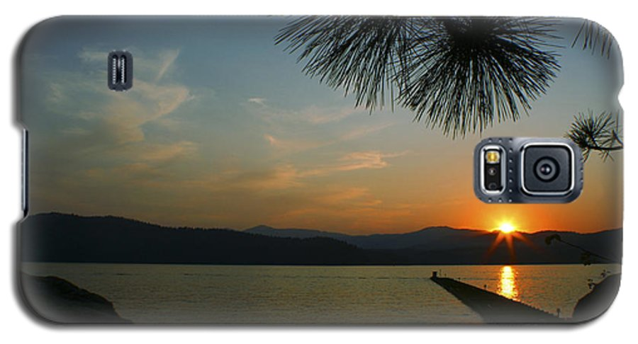 Sunset Galaxy S5 Case featuring the photograph Lake Sunset by Idaho Scenic Images Linda Lantzy