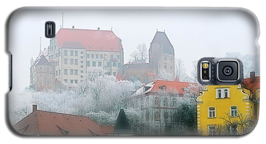 City Galaxy S5 Case featuring the photograph Landshut Bavaria On A Foggy Day by Christine Till