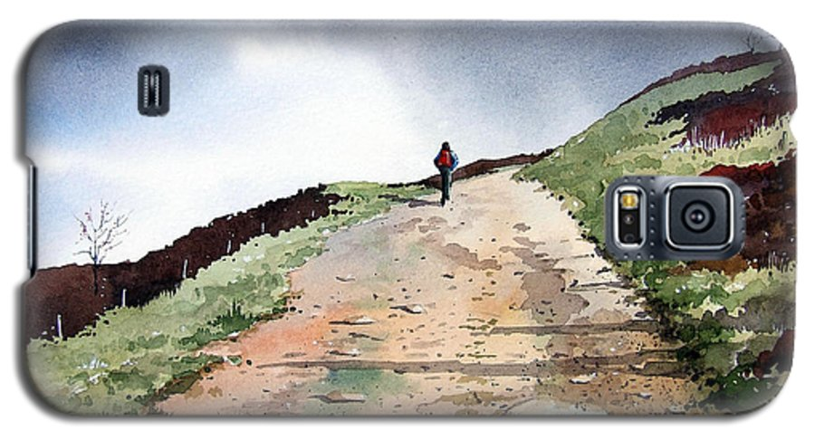 Landscape Galaxy S5 Case featuring the painting Lane To Quarry Pole Moor by Paul Dene Marlor