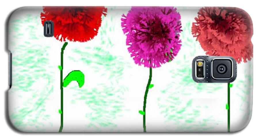 Flowers Galaxy S5 Case featuring the digital art Language Of Flowers by Dr Loifer Vladimir