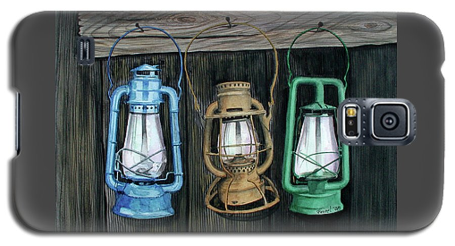 Lanterns Galaxy S5 Case featuring the painting Lanterns by Ferrel Cordle