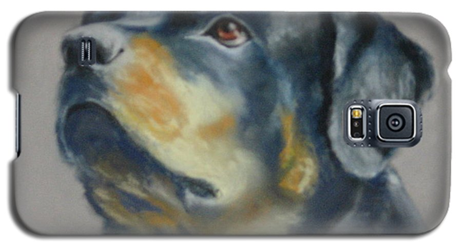 Dog Galaxy S5 Case featuring the painting Lars by Carol Mueller