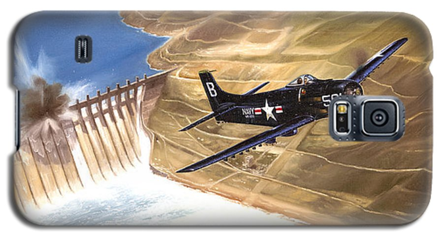 Military Galaxy S5 Case featuring the painting Last Of The Dambusters by Marc Stewart