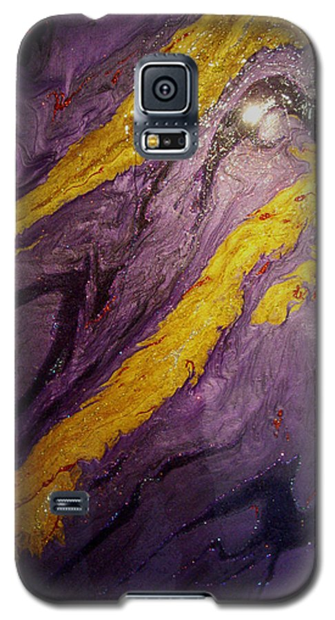 Abstract Galaxy S5 Case featuring the painting Lava At Night by Patrick Mock
