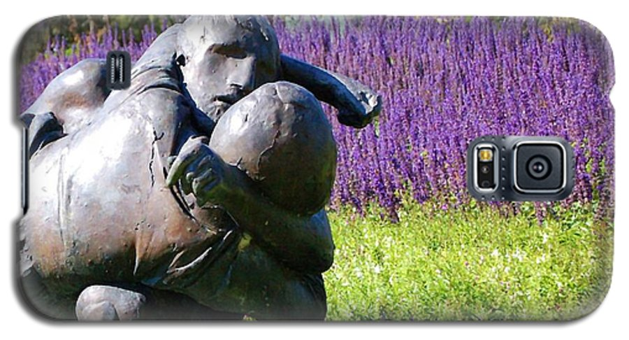 Statue Galaxy S5 Case featuring the photograph Lavender Lovers by Debbi Granruth