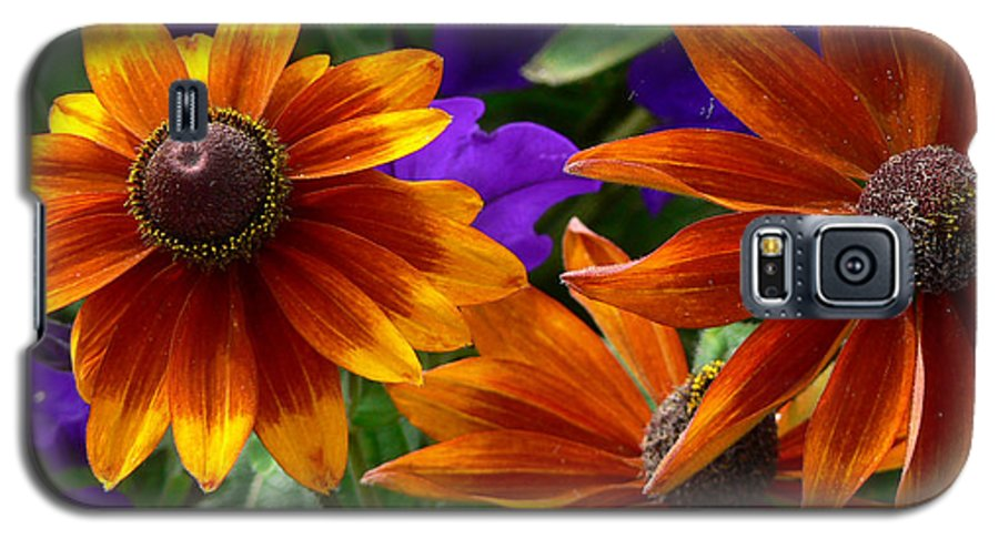 Flowers Galaxy S5 Case featuring the photograph Layers Of Color by Larry Keahey