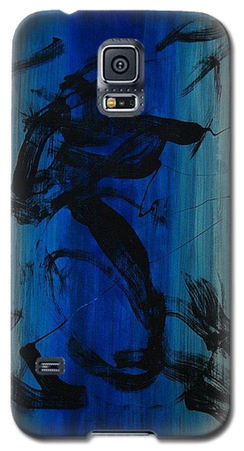 Acrylic Galaxy S5 Case featuring the painting Leap Of Love by Lauren Luna