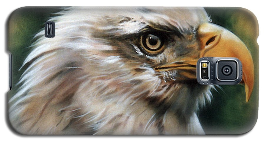 Southwest Art Galaxy S5 Case featuring the painting Leather Eagle by J W Baker
