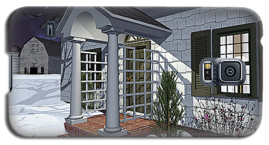 Porch Galaxy S5 Case featuring the photograph Leave The Porch Light On by Peter J Sucy