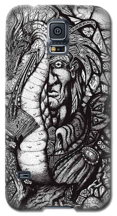 Pen And Ink Galaxy S5 Case featuring the drawing Legend by Tobey Anderson