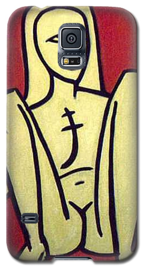 Nude Galaxy S5 Case featuring the painting Legs by Thomas Valentine