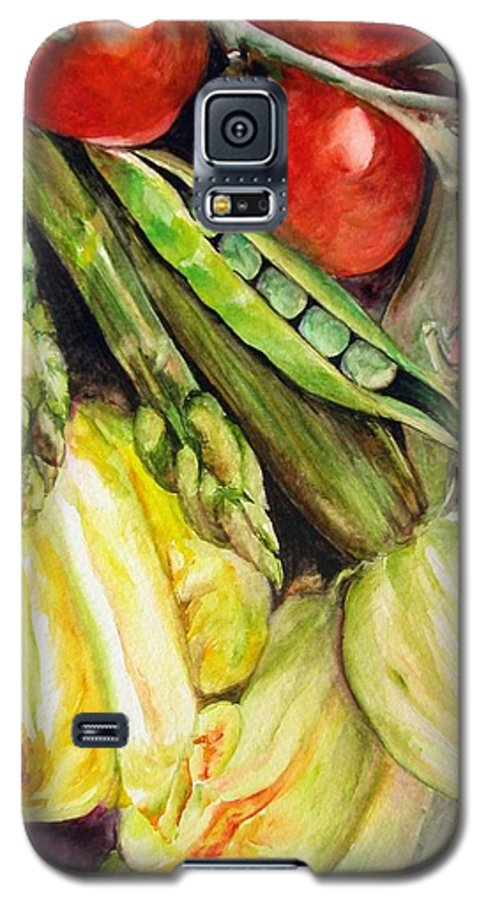 Still Life Galaxy S5 Case featuring the painting Legumes by Muriel Dolemieux