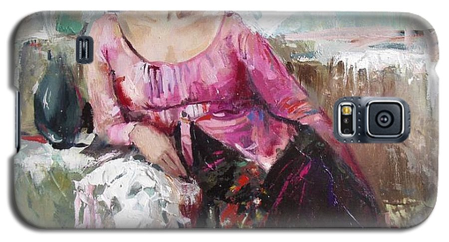 Ignatenko Galaxy S5 Case featuring the painting Lera by Sergey Ignatenko