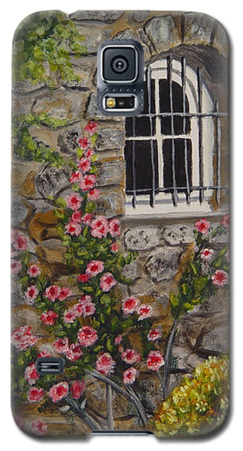 Window Galaxy S5 Case featuring the painting Les Arcs Sur Argens by Quwatha Valentine