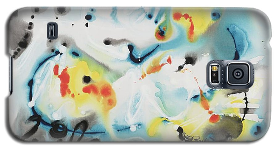 Life Galaxy S5 Case featuring the painting Life by Nadine Rippelmeyer