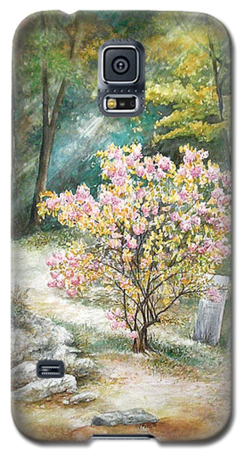 Landscape Galaxy S5 Case featuring the painting Life by Valerie Meotti