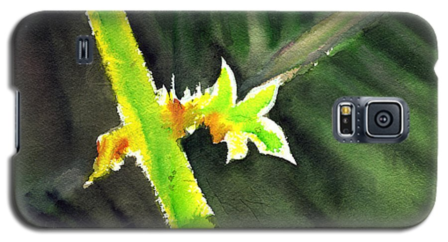 Water Color Galaxy S5 Case featuring the painting Light Branch by Anil Nene
