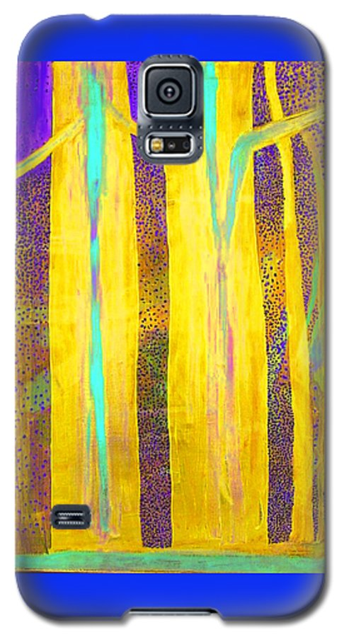 Galaxy S5 Case featuring the painting Light In The Forest by Jarle Rosseland