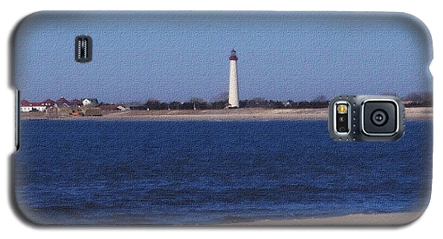 Lighthouse Galaxy S5 Case featuring the photograph Lighthouse At The Point by Pharris Art