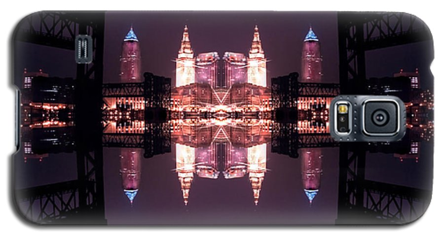 Cleveland Galaxy S5 Case featuring the photograph Lights Buildings And Bridges by Kenneth Krolikowski