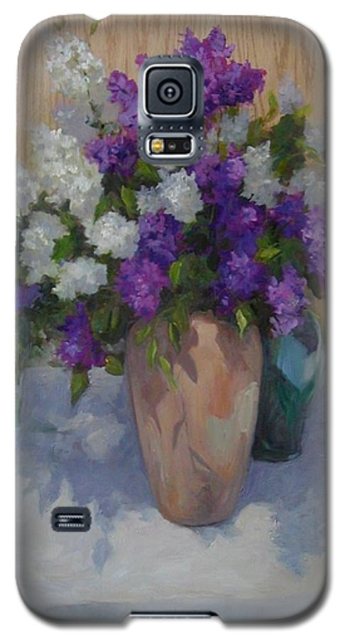 Lilacs Galaxy S5 Case featuring the painting Lilacs by Patricia Kness