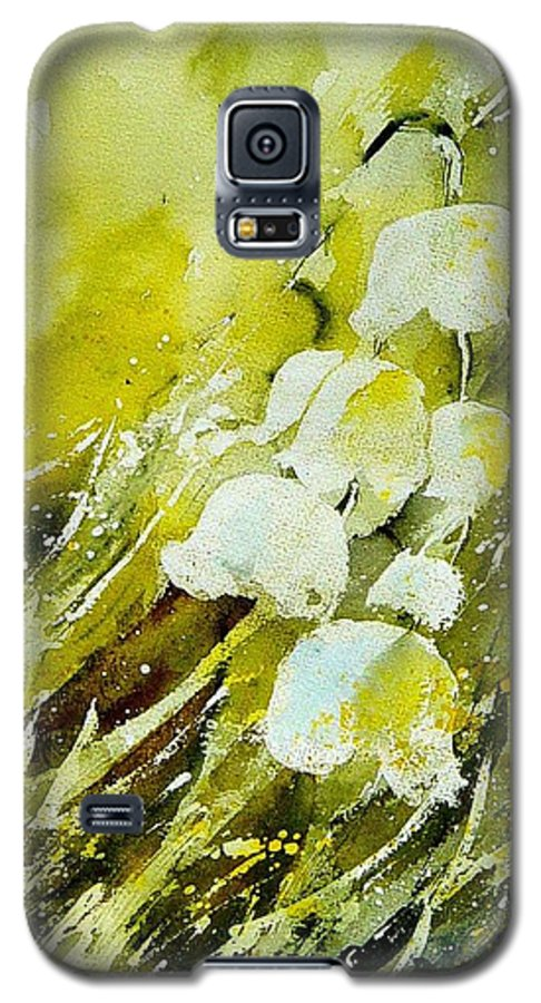 Flowers Galaxy S5 Case featuring the painting Lilly Of The Valley by Pol Ledent