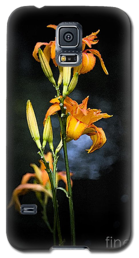 Lily Monet Garden Flora Galaxy S5 Case featuring the photograph Lily In Monets Garden by Sheila Smart Fine Art Photography