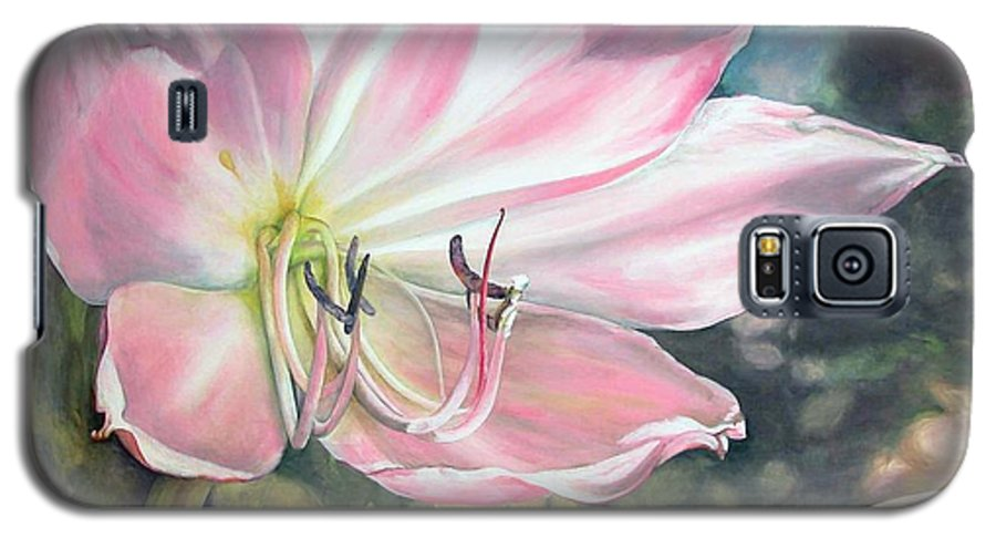 Floral Painting Galaxy S5 Case featuring the painting Lily by Muriel Dolemieux
