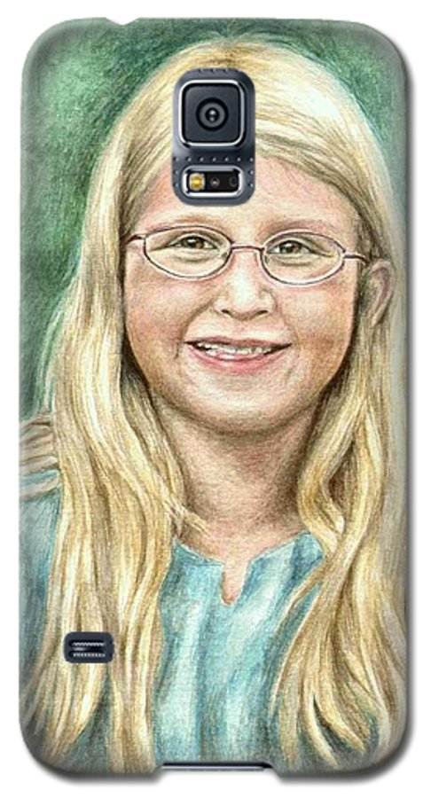 Girl Galaxy S5 Case featuring the painting Lily by Nicole Zeug