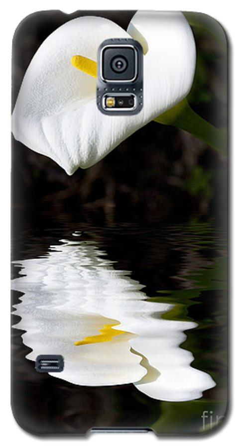 Lily Reflection Flora Flower Galaxy S5 Case featuring the photograph Lily Reflection by Avalon Fine Art Photography