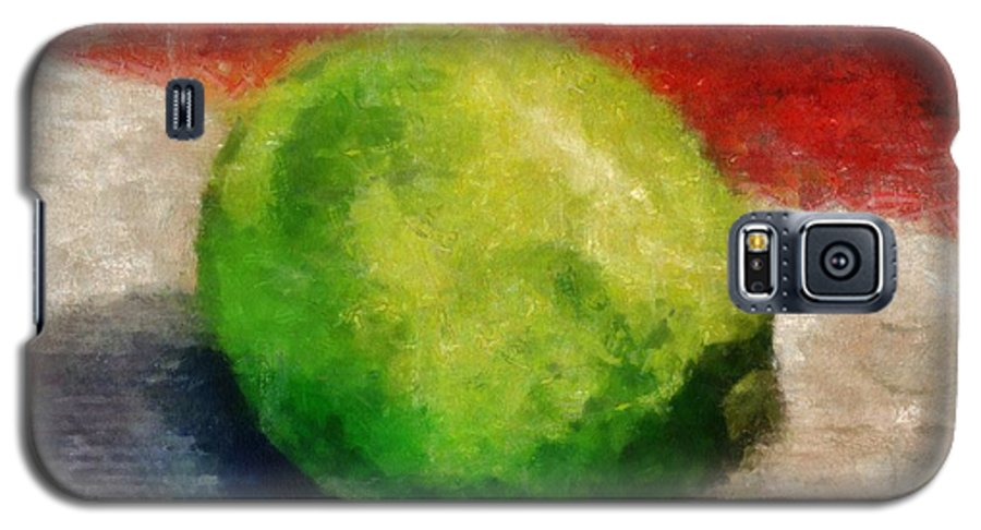 Lime Galaxy S5 Case featuring the painting Lime Still Life by Michelle Calkins