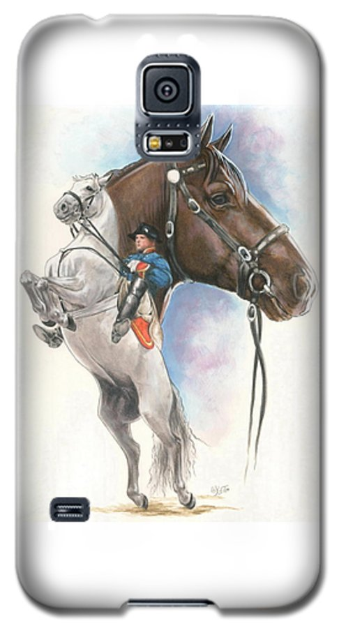 Spanish Riding School Galaxy S5 Case featuring the mixed media Lippizaner by Barbara Keith