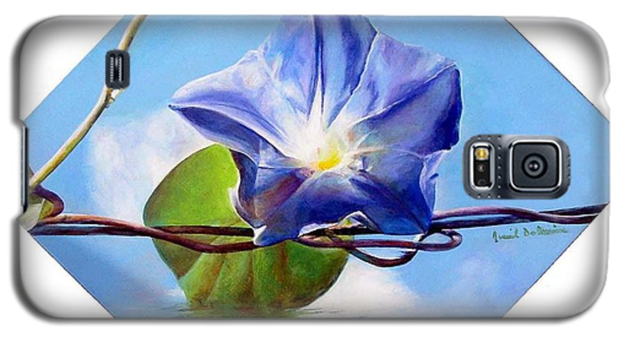 Floral Painting Galaxy S5 Case featuring the painting Liseron by Muriel Dolemieux