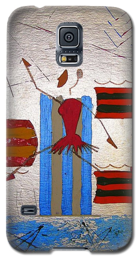 Ballerina Galaxy S5 Case featuring the mixed media Little Ballerina by J R Seymour