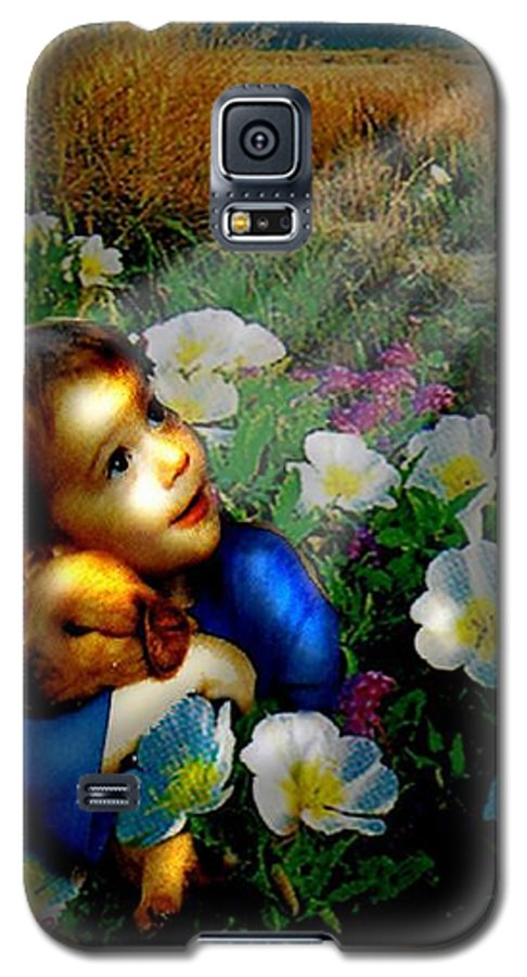A Small Boy Loses His Puppy. Searches All Day. Finds Sick Puppy In The Rain. Now Both Are Lost Until Galaxy S5 Case featuring the digital art Little Dog Lost by Seth Weaver