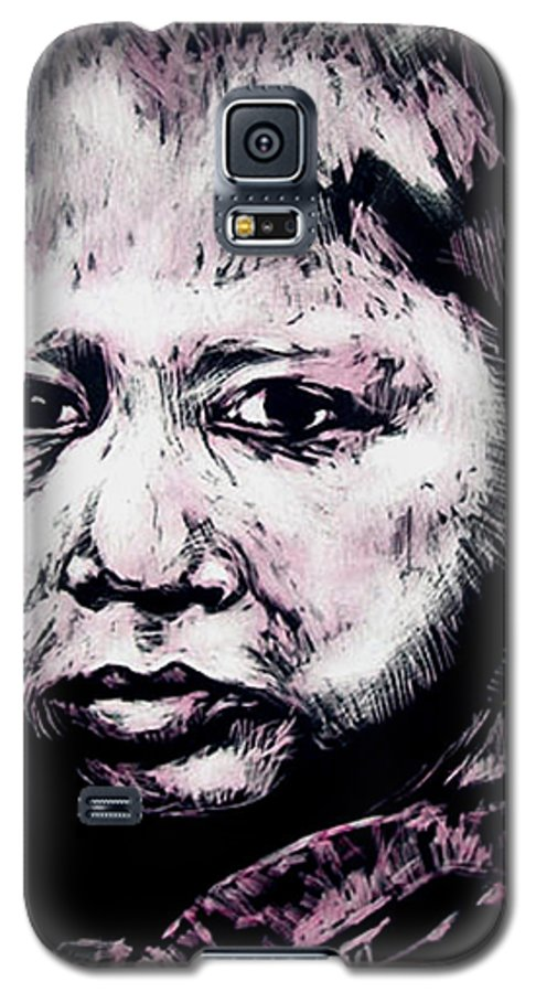 Galaxy S5 Case featuring the mixed media Little Rosita by Chester Elmore