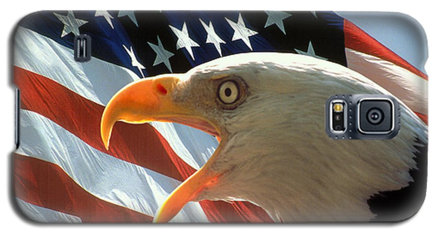 Eagle Galaxy S5 Case featuring the photograph Live Free Or Die by Carl Purcell